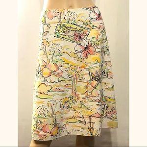 Express Hawaiian Skirt Cotton Lined Multicolor NWT